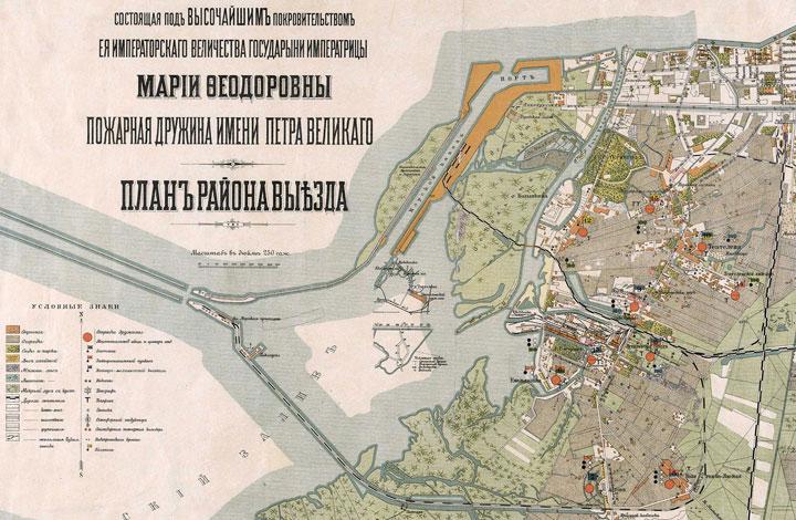 карта петербурга, канонерский остров в 18 веке
