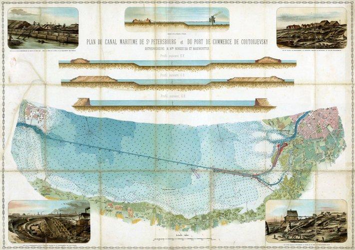 план строительства морского канала в петербурге близ канонерского острова