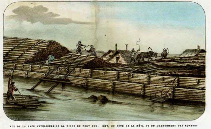 строительство морского канала, у канонерского острово